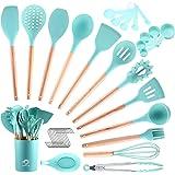 COPLIB Kitchen Cooking Utensils Set, 34Pcs Silicone Kitchen Utensils Set, Wooden Handles BPA Free Non Toxic Cooking…