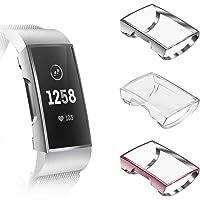 Fintie hoesje voor Fitbit Charge 3/Charge 4/Charge 3 Special Edition - [3 stuks] Ultradun Lichte Volledig beschermd…