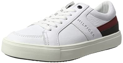 M2285OON 1C1, Baskets Homme, Blanc (White), 43 EUTommy Hilfiger