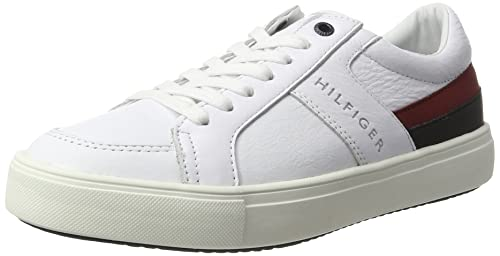 M2285OON 1C1, Zapatillas para Hombre, Blanco (White), 41 EU Tommy Hilfiger