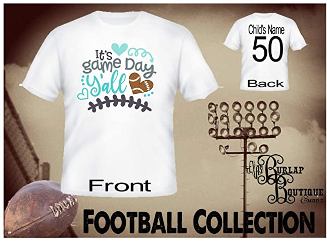 28ad8a94adac Image Unavailable. Image not available for. Color  Handmade Personalized  Football Shirt