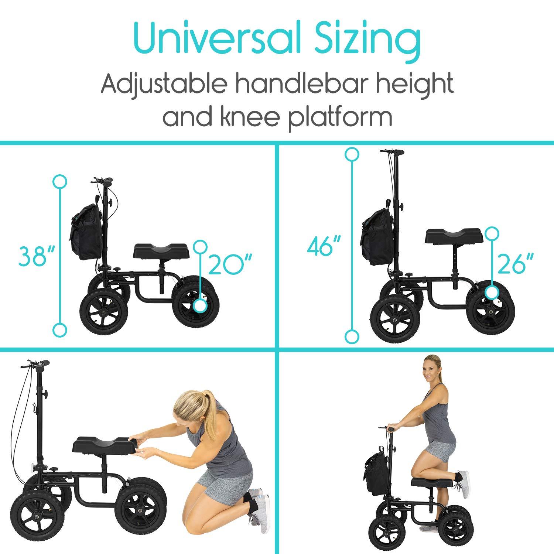 Amazon.com: Vive Knee Walker – Patinete para piernas rotas ...