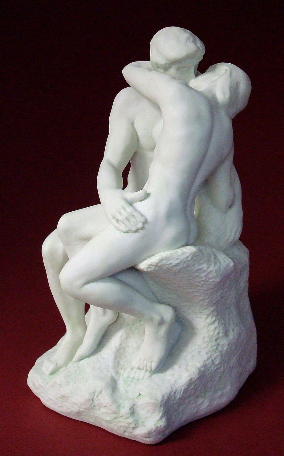 The Kiss statue by Auguste Rodin White 5.5 Tall