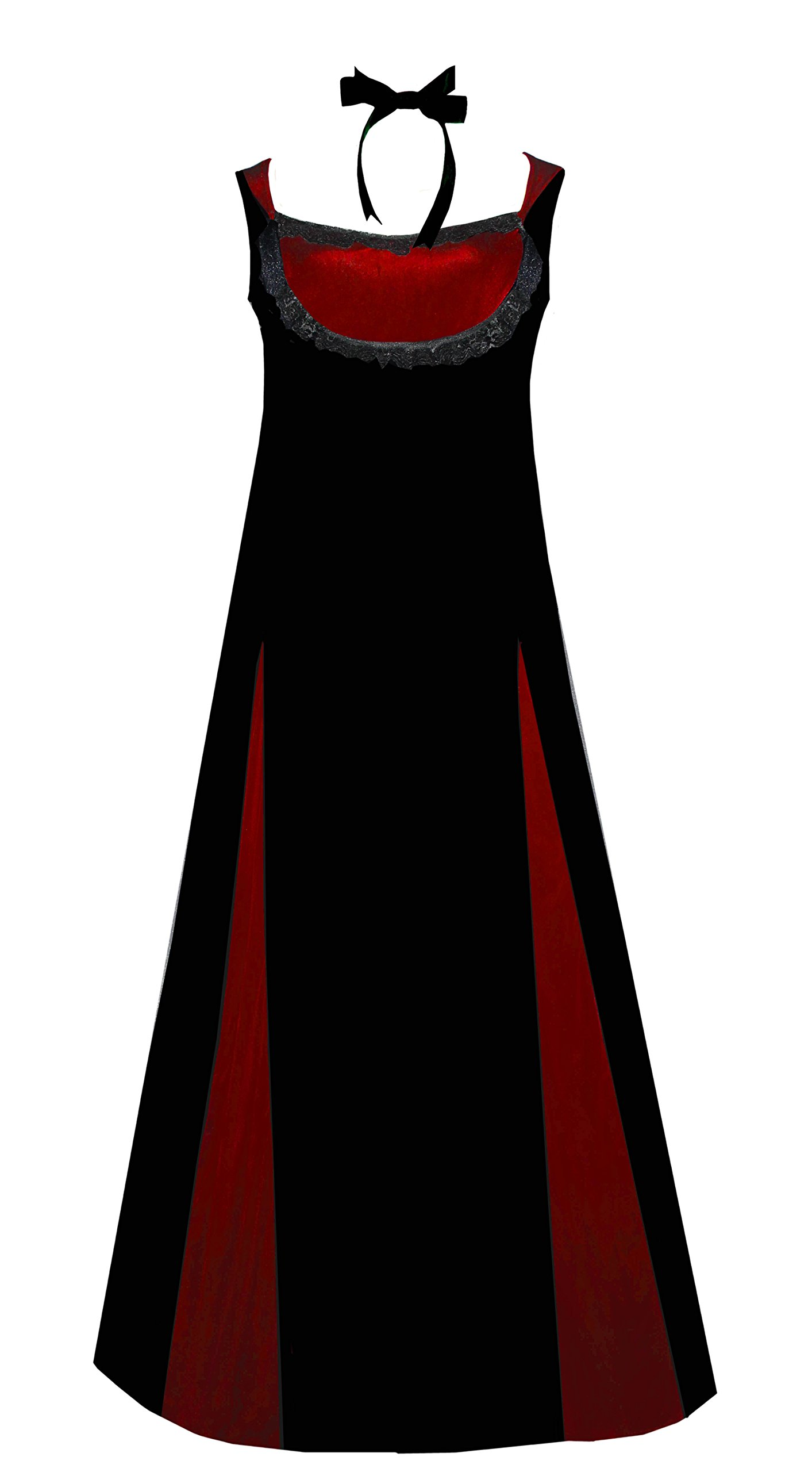 Victorian Valentine Steampunk Vintage Inspired Black Red Gothic Velvet Dress 3