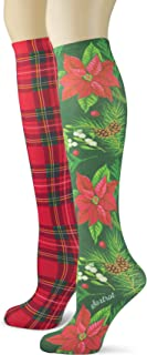 product image for Sox Trot Women's 3 Pairs Knee High Trouser Socks, Classy and Colorful Printed Patterns, Silky Smooth Material