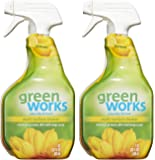 Green Works All-Purpose Cleaner - 98% Naturally Derived - Simply Lemon , Pack of 2, 64 fl oz Total