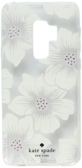 size 40 25b46 49943 Kate Spade New York Phone Case | For Samsung Galaxy S9 Plus | Protective  Clear Crystal Phone Cases with Slim Design and Drop Protection - Hollyhock  ...