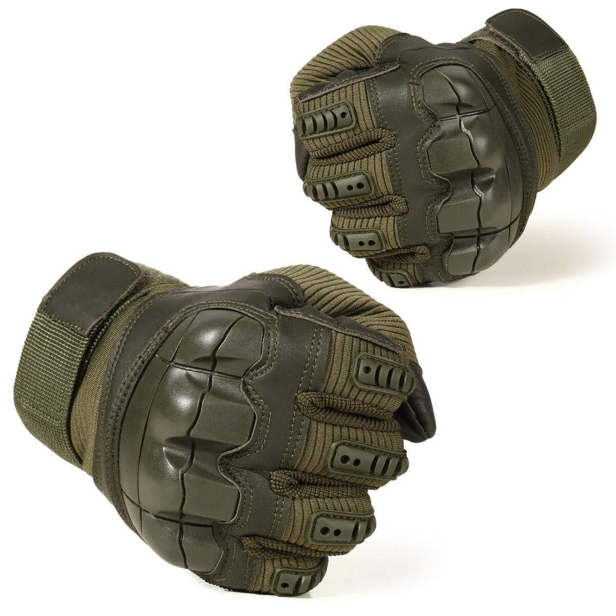 KO-GT6 Vollfinger-Touchscreen Tactical Military Handschuhe Gummi Hard Knuckle Handschuhe f/ür die Jagd Schie/ßen Motorrad Radfahren Wandern Outdoor-Sportarten