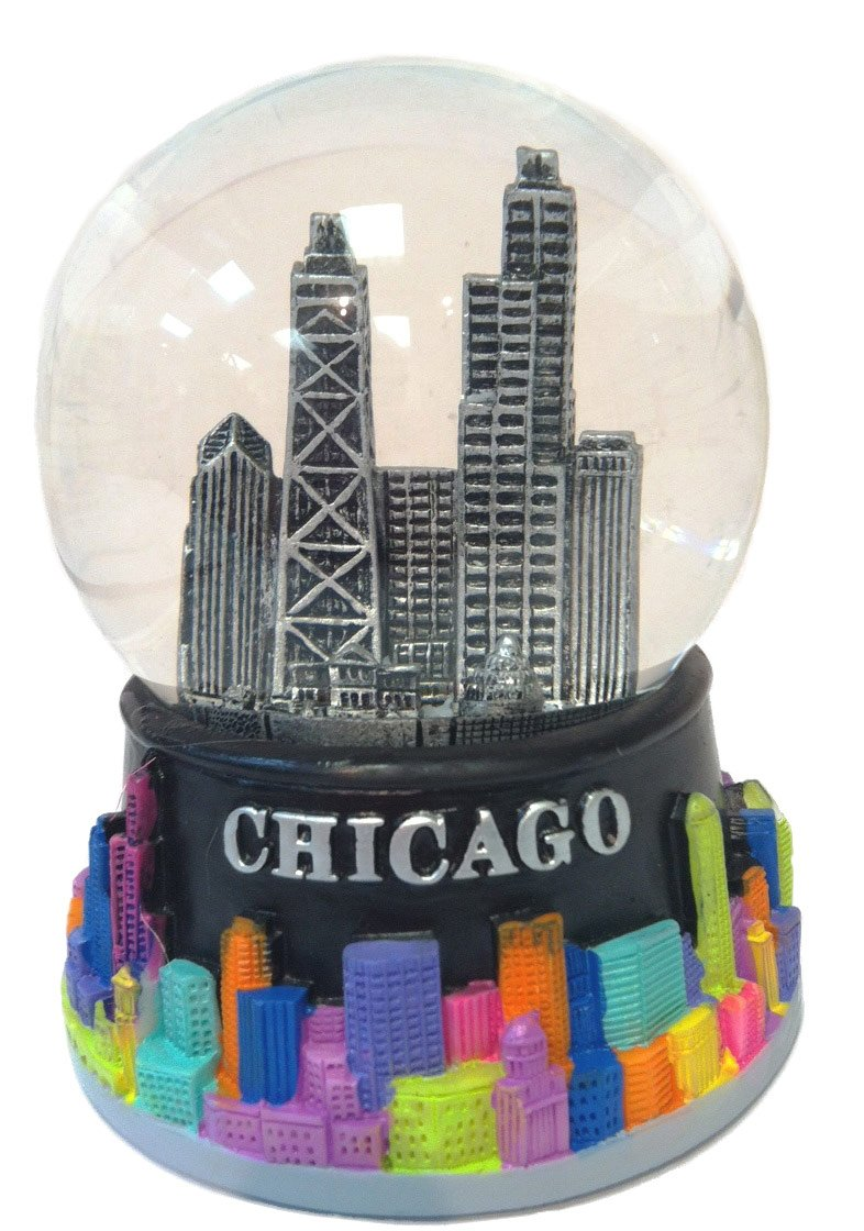 Amazon Chicago Color Splash Mini Snow Globe 45mm Home Kitchen