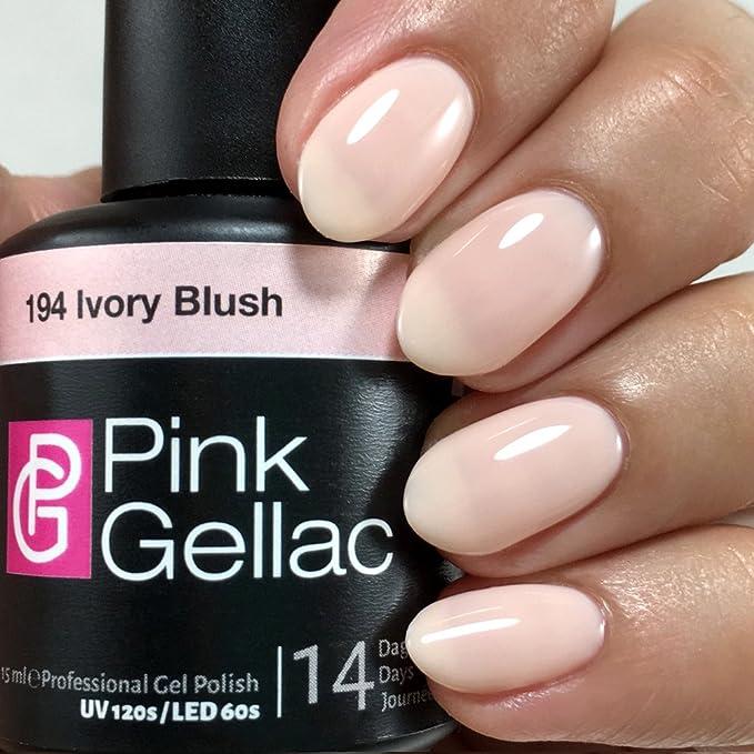 Pink Gellac 194 Ivory Blush UV nagellack. Professional Gel Nail ...