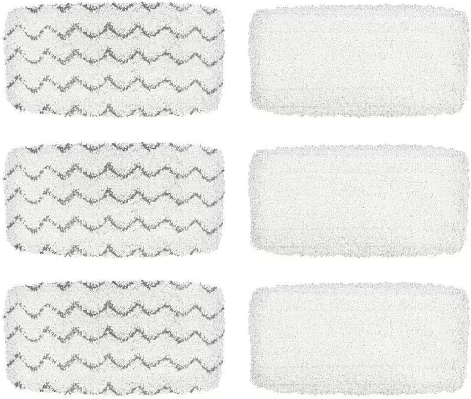 Romica Steam Mop Refill Pads For Bissell 1252 1606670 1543 1652 1132M 1530 11326 Symphony Hard Floor Vacuum Steam Cleaner Series (Pack Of 6)