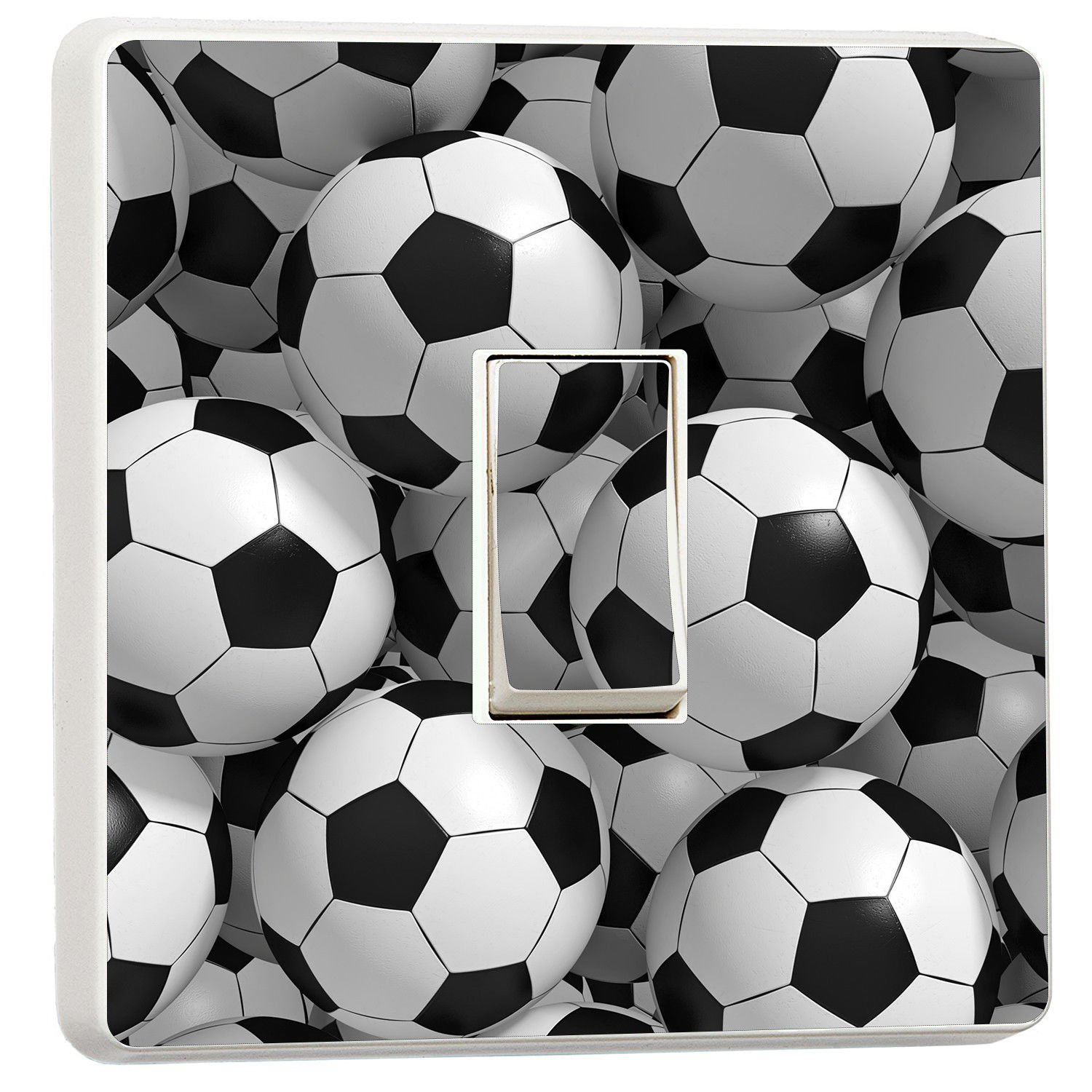 3D Footballs Light Switch Stickers Mural Boys Bedroom Soccer Photo Wall Murals Online Ltd