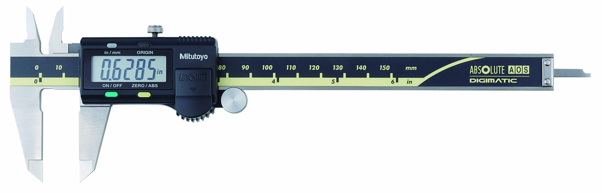 Mitutoyo 500-196-30CAL Absolute Advanced Onsite Sensor (AOS) Digital Caliper with Calibration, Inch/Metric, 0-6'' Range, 0.0005'' Resolution, +/-0.001'' Accuracy by Mitutoyo (Image #1)