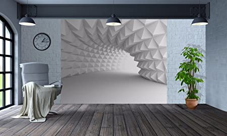 Cool 3D Optical Illusion Arch Tunnel Wallpaper Wall Mural