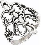 Sterling Silver Noble Fleur De Lis Ring Size 10