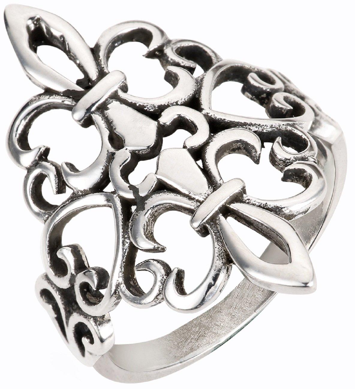 CloseoutWarehouse Sterling Silver Noble Fleur De Lis Ring Size 15
