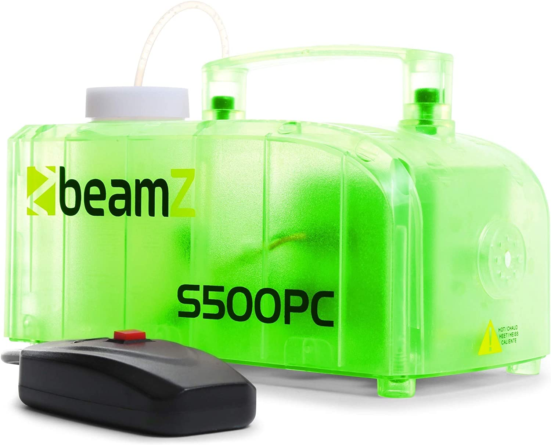BeamZ S500PC Agua 0.25L 500W Transparente - Máquina de humo (500 W, 1,8 kg, 245 x 132 x 134 mm)