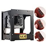 Yosoo 1000mW DIY USB CNC Engraver Printer Cutter Engraving Machine NEJE DK-8-KZ M2U8 for Leather Wood Plastic with Protective Glasses, CE Certificate