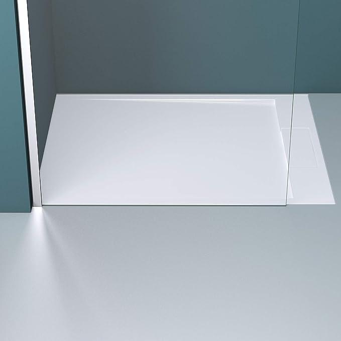 Mai /& Mai Paroi de douche 100x200cm pare-douche /à litalienne dessin labyrinthe BR2DM en verre tremp/é 10mm easy clean stabilisateur carr/é BRAM2