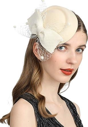 Vintage Fascinators Hat Feathers Tea Party Hair Clip Women Kentucky Derby Headwear Wedding Cocktail Headband