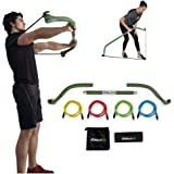Gorilla Bow Portable Home Gym Resistance Bands and Bar System for Travel, Fitness, Weightlifting and Exercise Kit, Full…