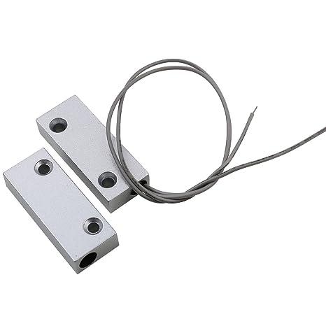 UHPPOTE Superficie Montado con Cable Magnético Puerta de Metal Ventana Detector de Sensor Interruptor de Contacto