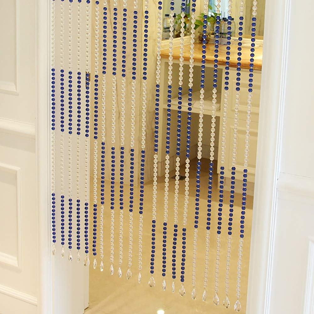 GuoWei-Cortinas de Cuentas Cristal Vaso Perlas Puerta Tabique Espacio Dividir Decoración Personalizable (Color : A, Tamaño : 40 strings-140x180cm): Amazon.es: Hogar