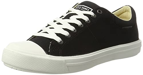 Mens Jfwmervin Textile Bright White Low-Top Sneakers, Anthracite Jack & Jones
