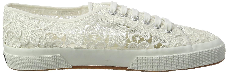 White Superga 2750 Macramew Women/'s Low-Top Sneakers Low-Top Sneakers 7.5 UK 41.5 EU White