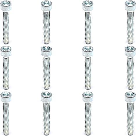 Easyboost 12 Innensechskantschrauben M8 x 10mm CHC BTR Inbusschl/üssel Klasse 8.8 Verzinkter Stahl DIN-912 ISO-4762 NFE-24762 UNI-5931-67 Metall Zylindrischer Sechskantschraube Kopf Hochwertige