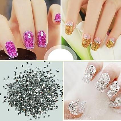1000 Pcs/pack Adhesivo de uñas brillantes forma redonda decoración ...