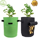 Amazon.com: GEMGO 2 bolsas de cultivo de patata, 33 L/9 ...