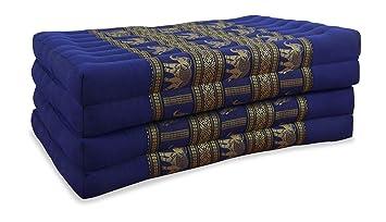 Plegable colchón con 100% natural relleno de ceiba y seda bordado, colchón plegable,
