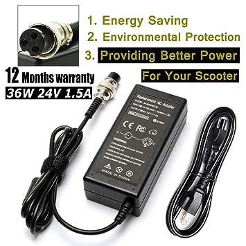 LJO-EEIH - Cargador de batería para scooter eléctrico (24 V ...
