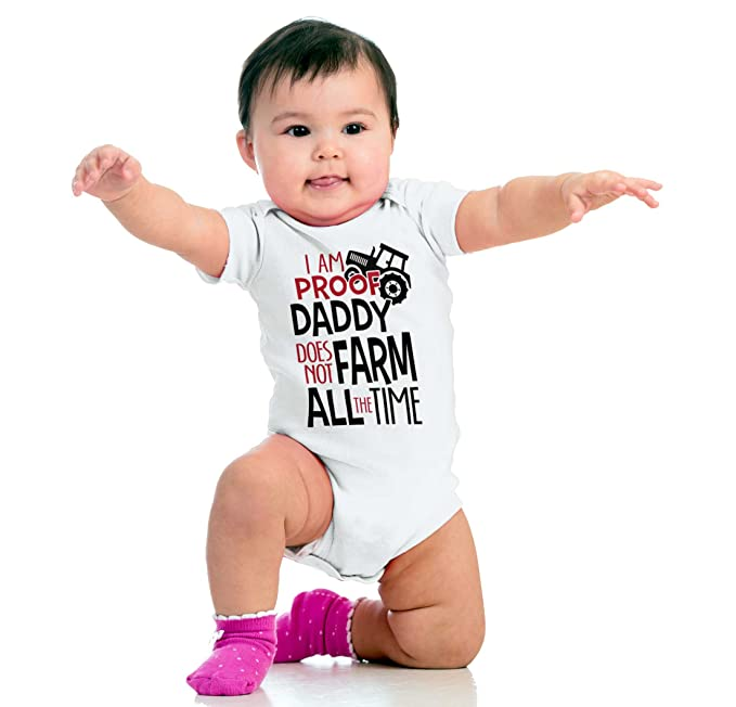 Brisco Brands Funny Farming Ironic New Parents Gifts Newborn Cute Baby Romper Bodysuit