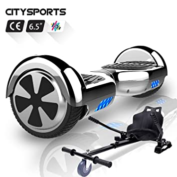 CITYSPORTS Hoverboard 6.5 Pulgadas, Patinete Eléctrico Balance Board Inteligente Scooter 2x350W con LED Luces, Bluetooth