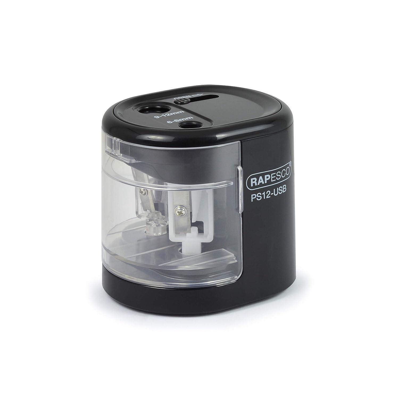 Powder Blue,1447 Rapesco Automatic Electric USB//Battery Pencil Sharpener