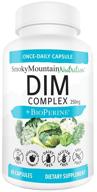 DIM Supplement 250mg Plus BioPerine, Sulforaphane, Dong Quai, Vitamin D,  Organic Alfalfa &