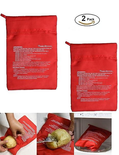 2 unidades) para cocinar patatas en microondas cocina Bag ...