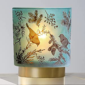 Battery Operated Table Lamp with Timer, Cordless Lamps for Home Decor, Battery Powered Nightlight with LED Bulb, Home Decor Lights for Living Room Bedroom Bedside Tabletop Entryway Centerpiece(Spring)