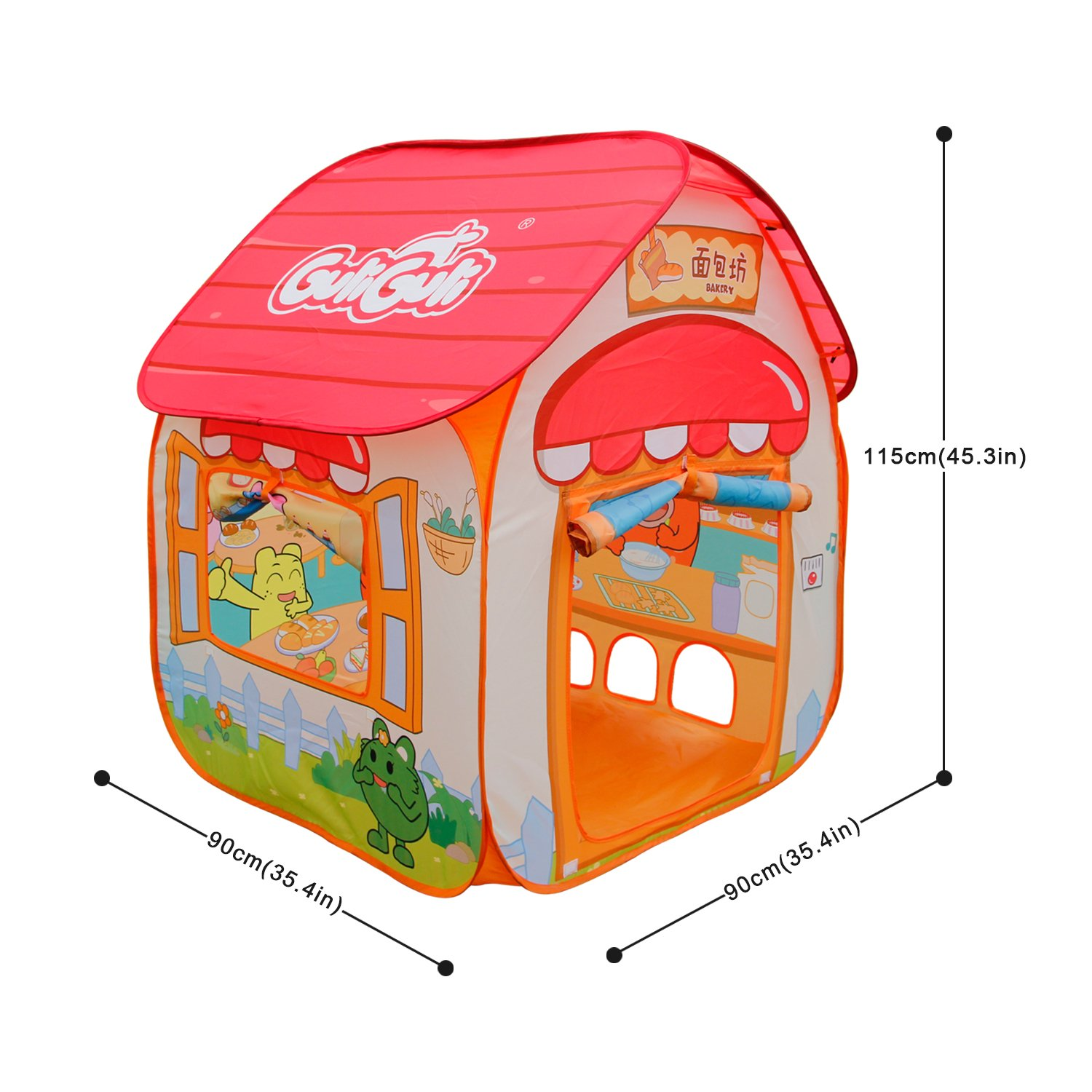 ALPIKA Play Tent Boys Girls GuliGuli Pop up Toys Kids Tent Indoor & Outdoor Playhouse Children (not Included Balls)