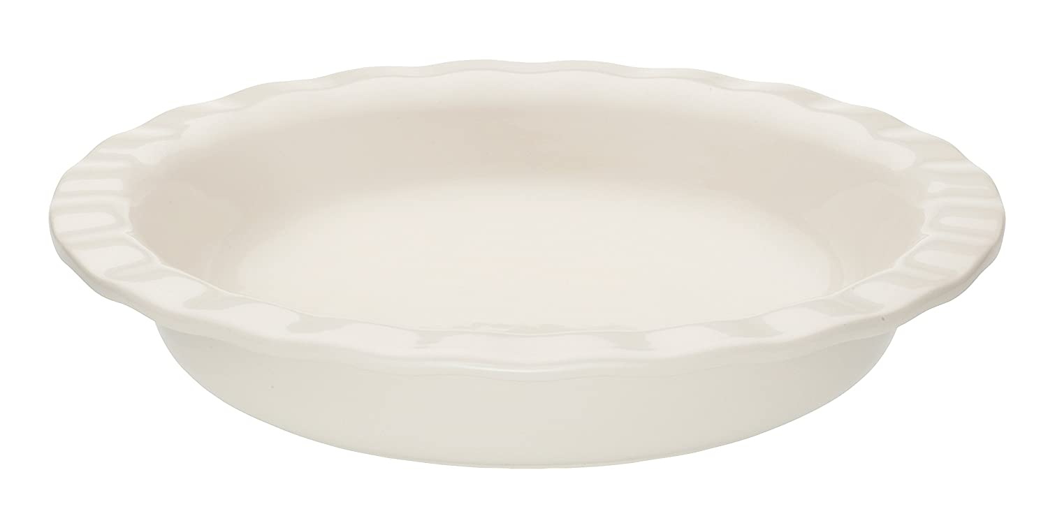 Mrs. Anderson's Baking 98063 Baking Easy Pie Plate 9.5-Inch White
