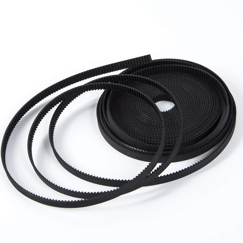 S.Y.M 3D Printer Pen Timing Belt 6mm Width Rubber Fiberglass for 3D Printer (Opened-Belt) 10M Printer Accessories by S.Y.M (Image #4)