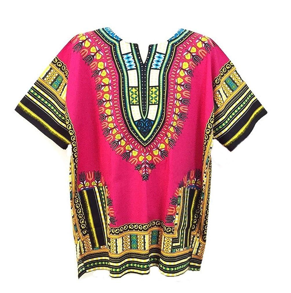 Vipada's Dashiki Shirt African Top Men's Dashiki (Pink)