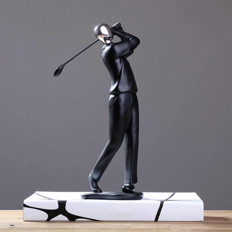 Dekofiguren Dekoobjekt aus Kunstharz Design Sportler-Serie schwarz ...