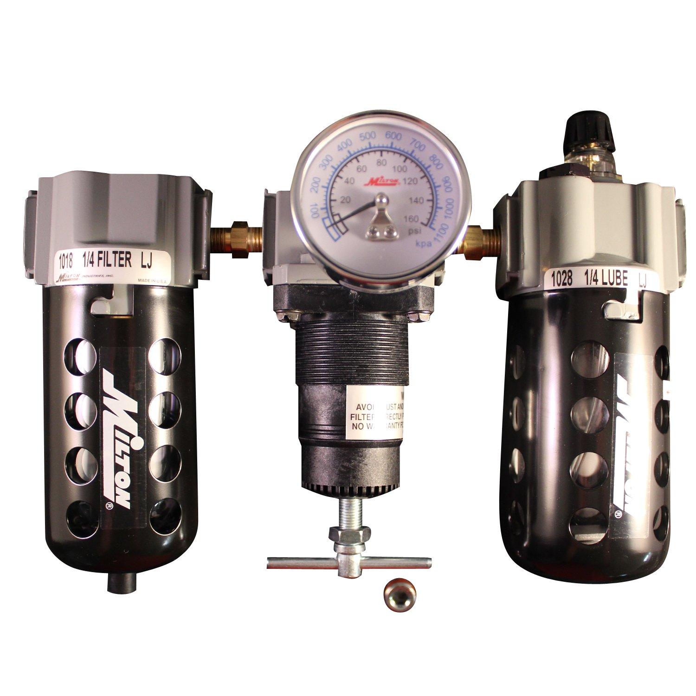 Milton 1100 1/4'' Filter Regulator and Lubricator Trio