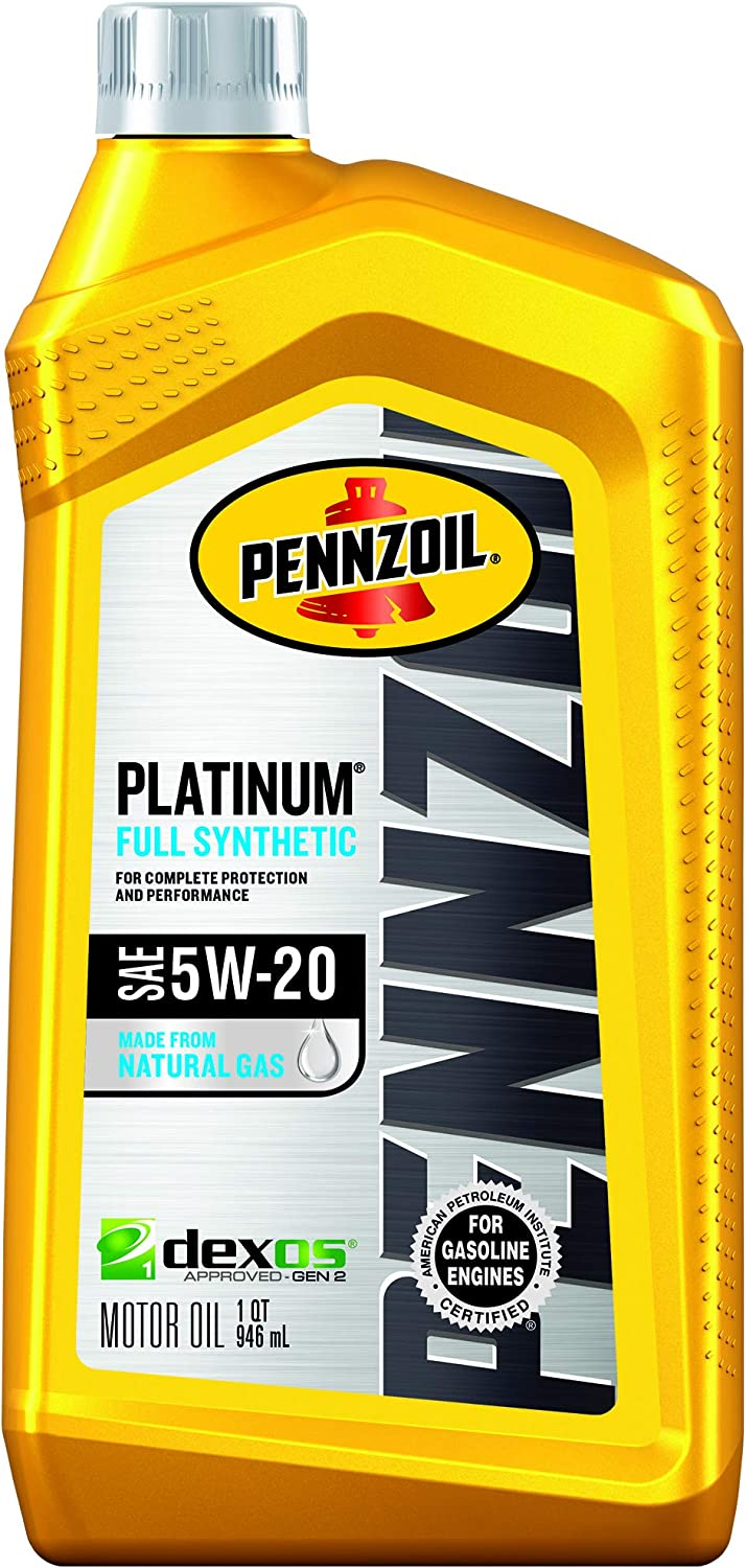 Pennzoil 550022686 Platinum Full Synthetic Motor Oil (SN) 5W-20, 1 Quart - Pack of 1