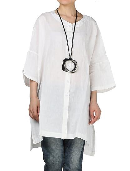 Manches Cardigan Décontracté Chic Vogstyle Chemise Hauts Boutons Casuel Shirt 12 Femme Large Tee 5cARjL34q