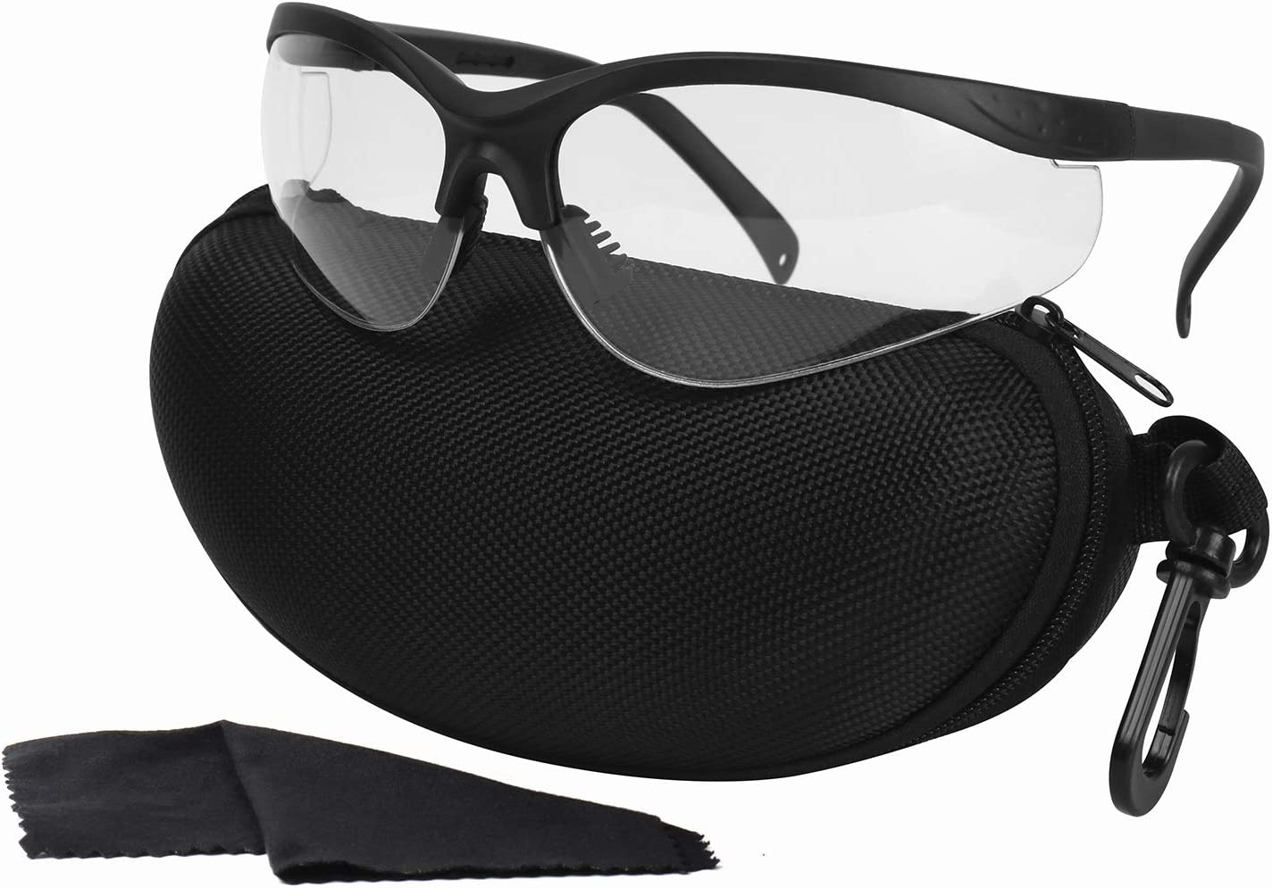 LaneTop Shooting Glasses for Men and Women, Anti Fog ANSI Z87.1 Safety Glasses with Hard Shell Case, UV400 Eye Protection for Shooting Range Glasses