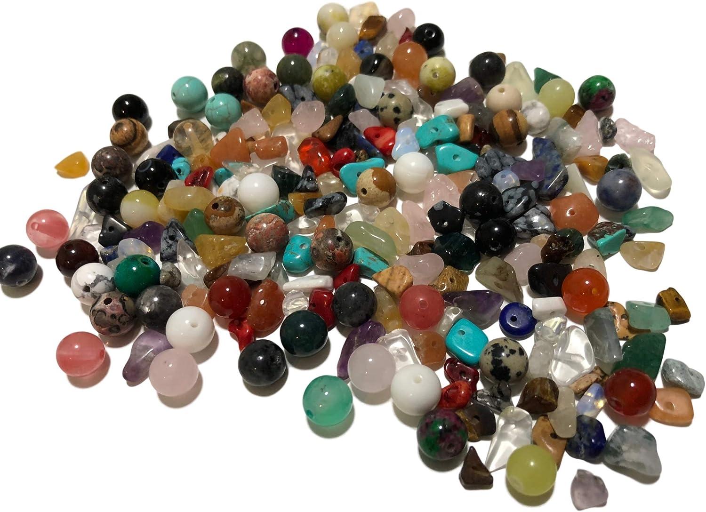 Aprox. 200 piezas de piedras semipreciosas redondas y naturales piedras preciosas piedras curativas piedras semipreciosas perlas para manualidades ojo de tigre malaquita turquesa